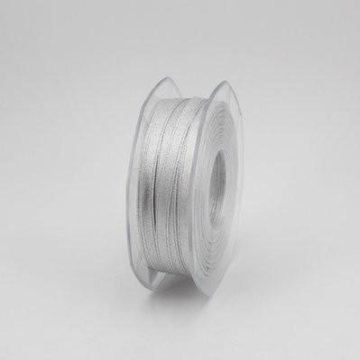 Furlanis nastro doppio raso lurex argento colore 101 mm.6 Mt.50