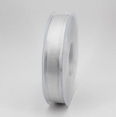 Frulanis nastro doppio raso lurex argento colore 101 mm.16 Mt.50