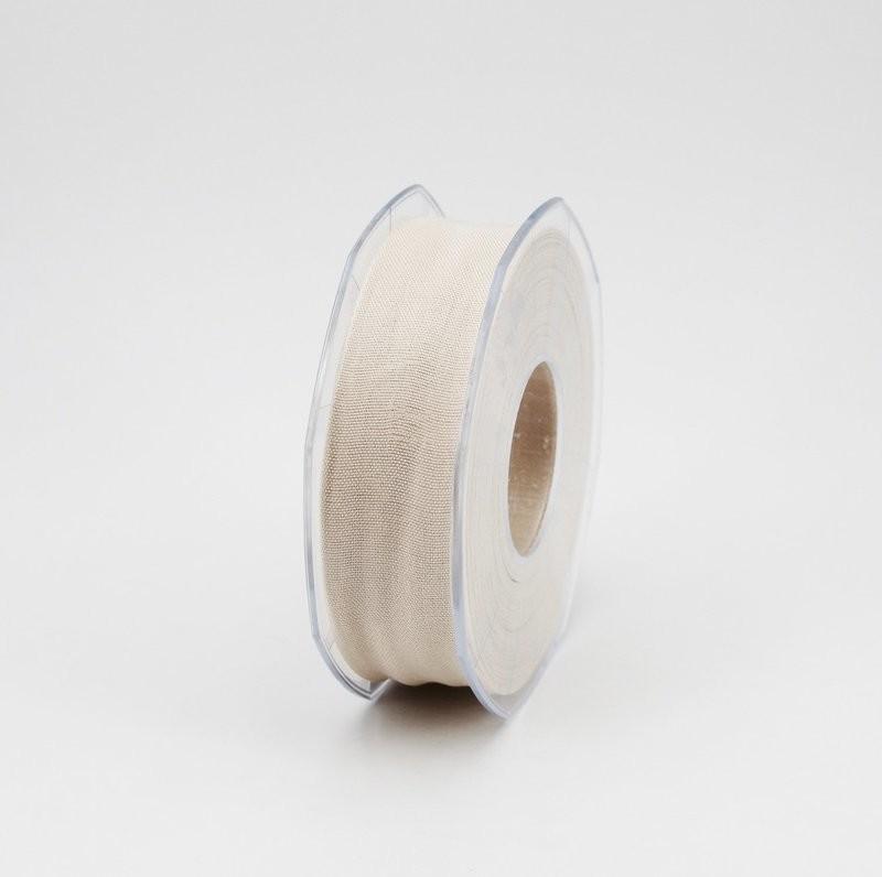 Furlanis nastro garza tipo cotone avorio colore 35 mm.25 Mt. 25