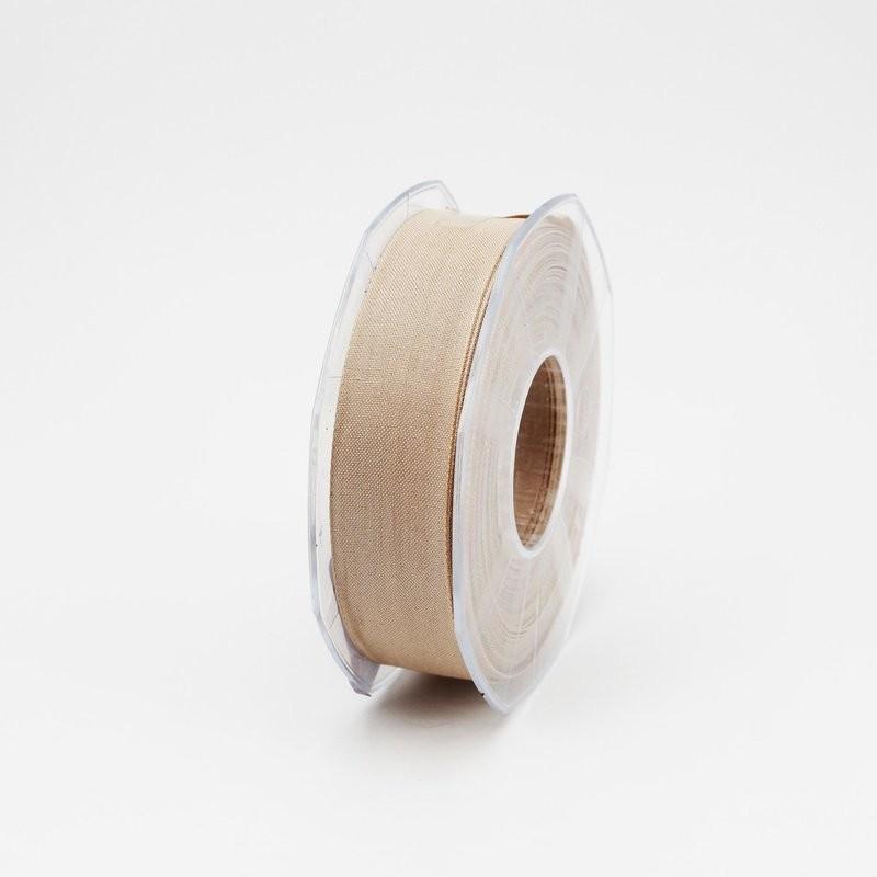 Furlanis nastro garza tipo cotone beige colore 2 mm.25 Mt. 25