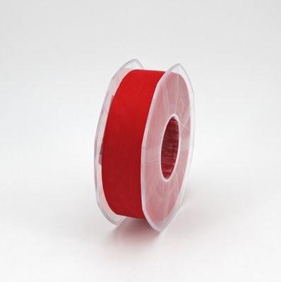 Furlanis nastro garza tipo cotone rosso colore 31 mm.25 Mt. 25