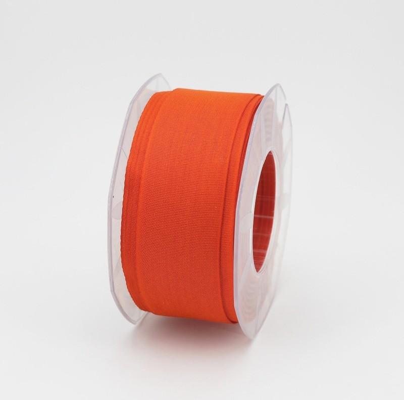 Furlanis nastro garza tipo cotone arancio colore 40 mm.40 Mt. 25