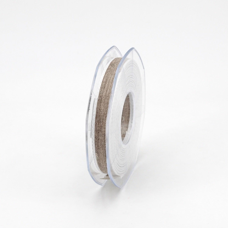 Furlanis nastro lino bordo colorato biancho colore 1 mm.10 Mt. 15