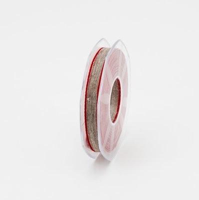 Furlanis nastro lino bordo colorato rosso colore 31 mm.10 Mt. 15