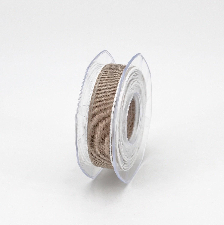Furlanis nastro lino bordo colorato bianco colore 1 mm.20 Mt. 15