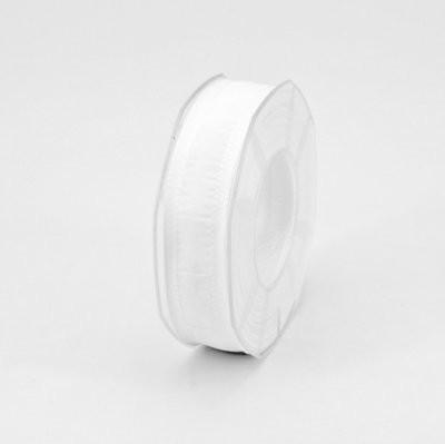 Furlanis nastro seta bordi rinforzati bianco colore 1 mm.25 Mt. 20