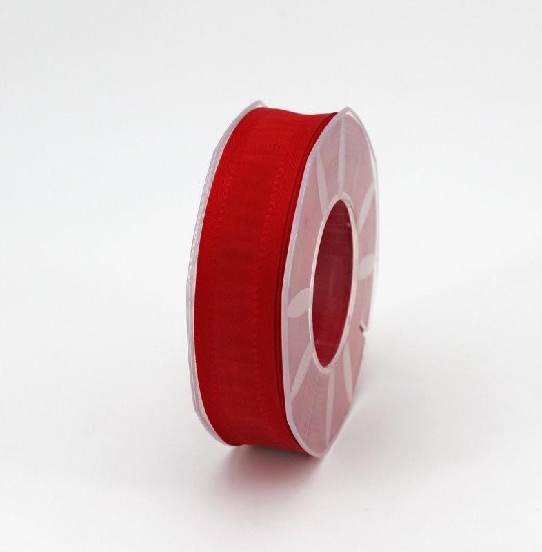 Furlanis nastro seta bordi rinforzati rosso colore 31 mm.25 Mt. 20
