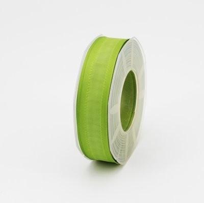 Furlanis nastro seta bordi rinforzati verde colore 139 mm.25 Mt. 20