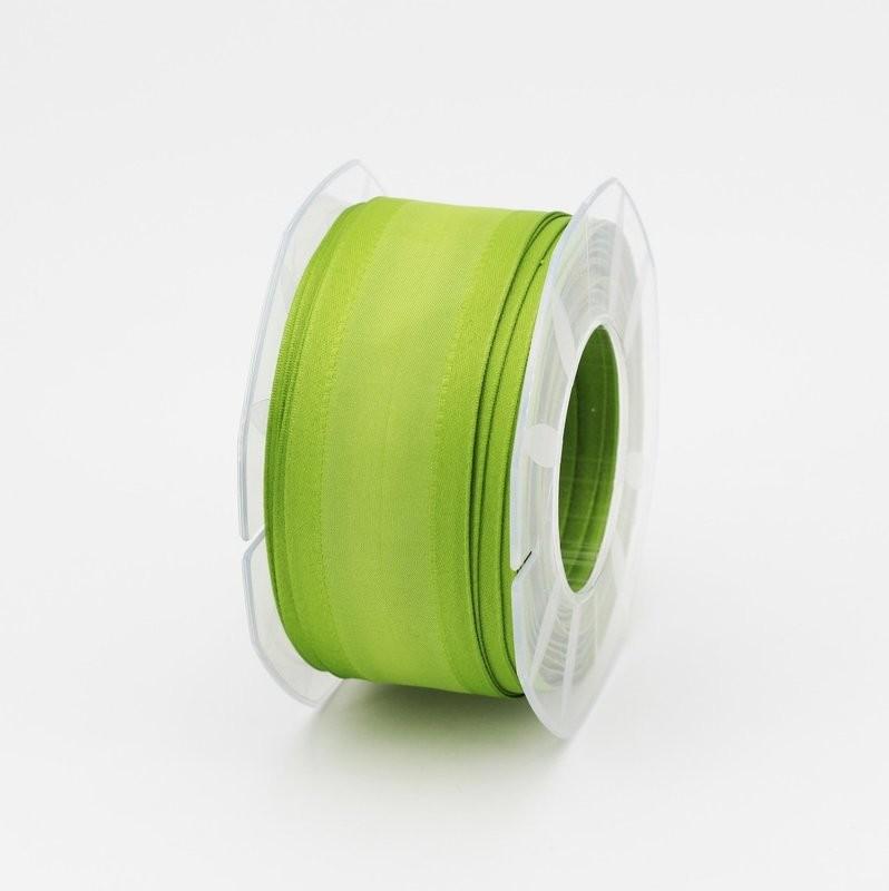 Furlanis nastro seta bordi rinforzati verde colore 139 mm.40 Mt. 20
