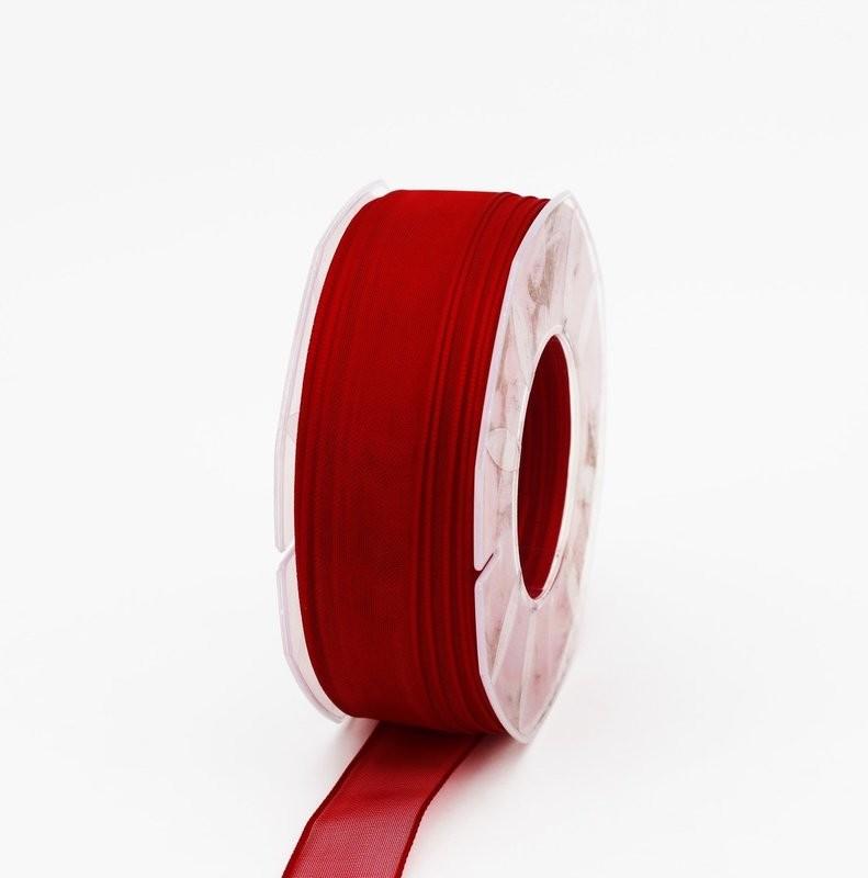 Furlanis nastro organza rosso colore 31 mm.25 Mt.50
