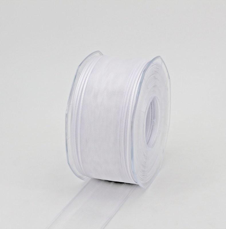 Furlanis nastro organza bianco colore 13 mm. 40 Mt.50