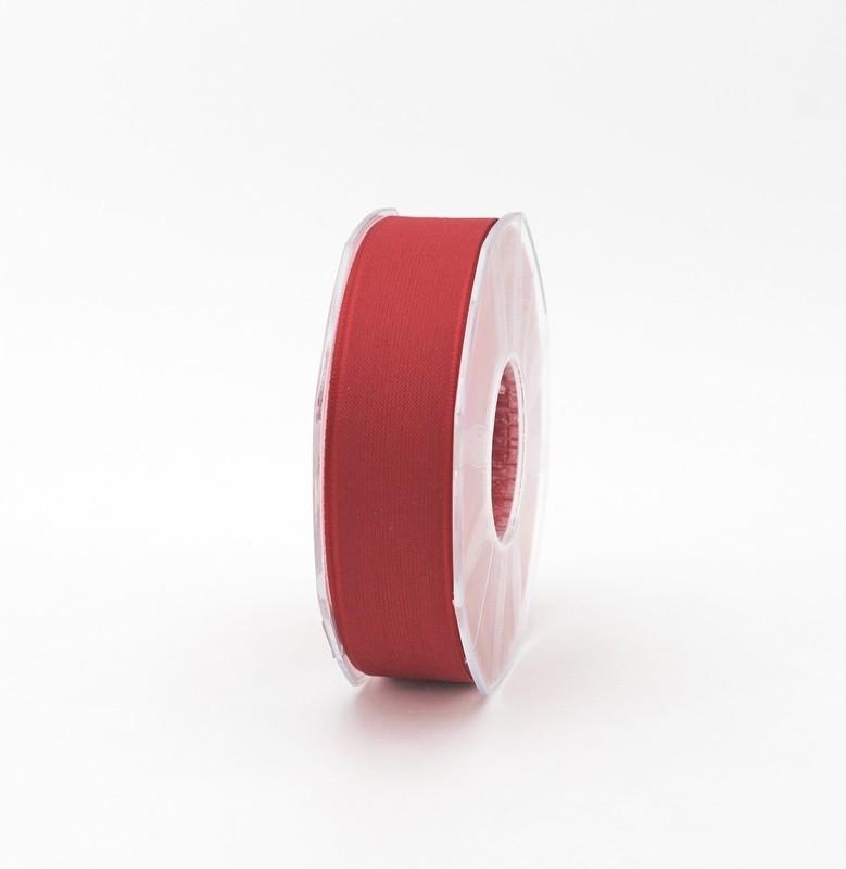 Furlanis nastro velo cotone resinato rosso colore 31 mm. 25 Mt. 25