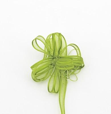 Furlanis nastro organza con tirante verde colore 139 mm.6 Mt. 50