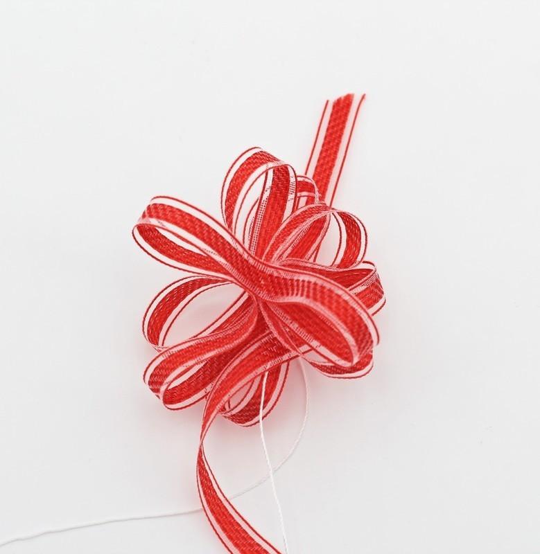 Furlanis nastro rondo con tirante rosso colore 31 mm.8 Mt. 25