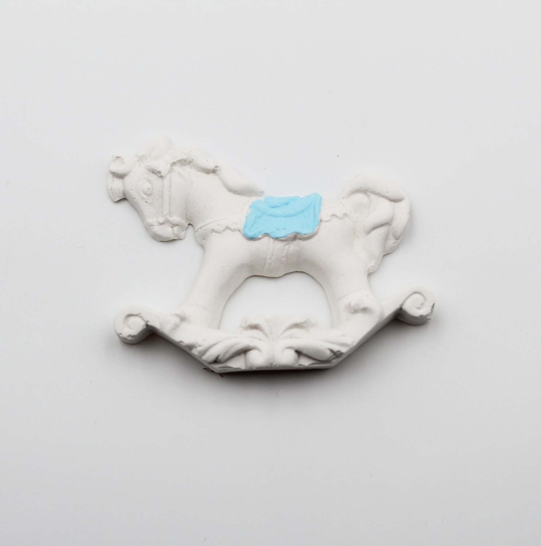 Gessetto cavallo a dondolo celeste  Pz.10