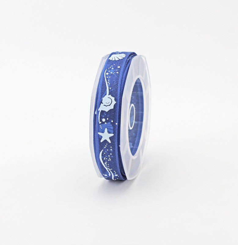 Furlanis nastro velo luminoso serigrafato blu colore 654 mm.15 Mt. 10