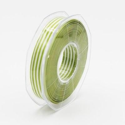 Furlanis nastro bamby rigato verde colore 139 mm.15 Mt. 25