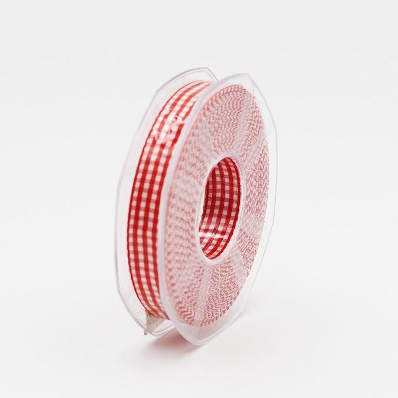 Furlanis nastro a quadretti rosso colore 31 mm.15 Mt. 20