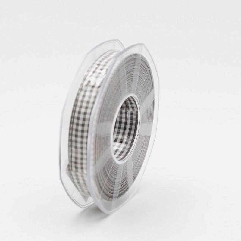 Furlanis nastro a quadretti grigio colore 73 mm.15 Mt. 20
