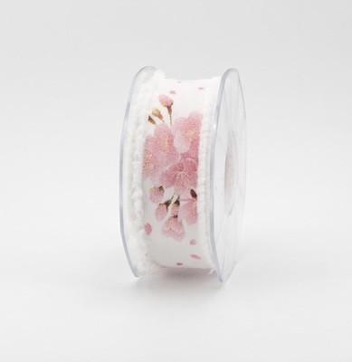 Furlanis nastro velo sfrangiato bianco collezione digitale mm.35 Mt.15