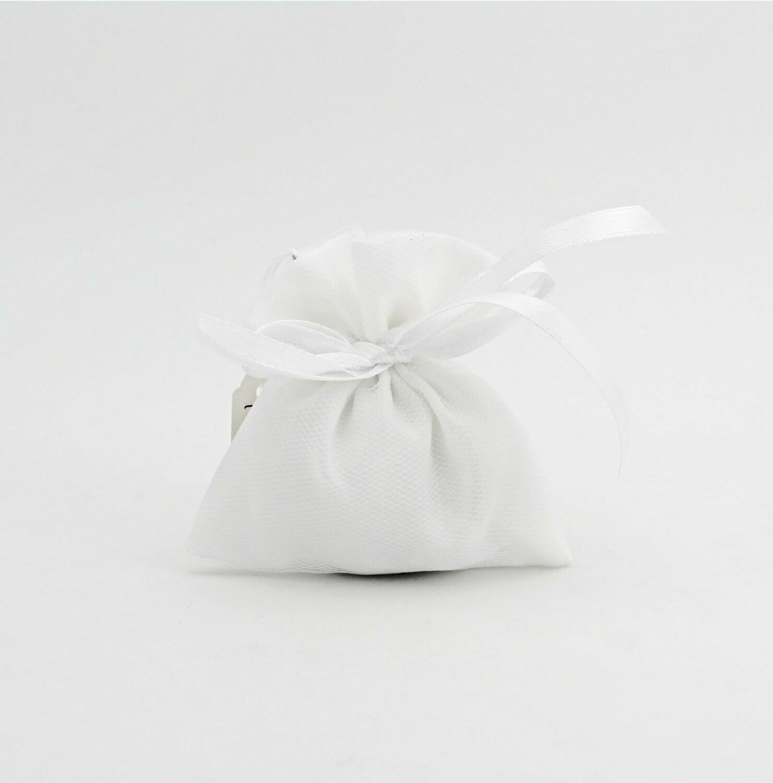 Sacchetto piccolo tulle bianco Pz.10