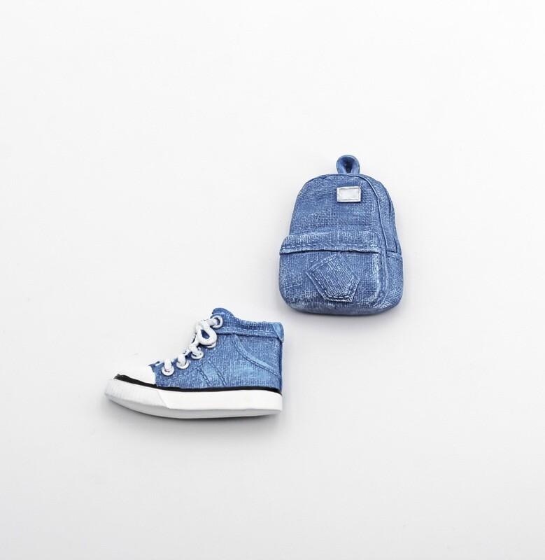 Bomboniera scarpa e zaino jeans calamitati Pz. 12
