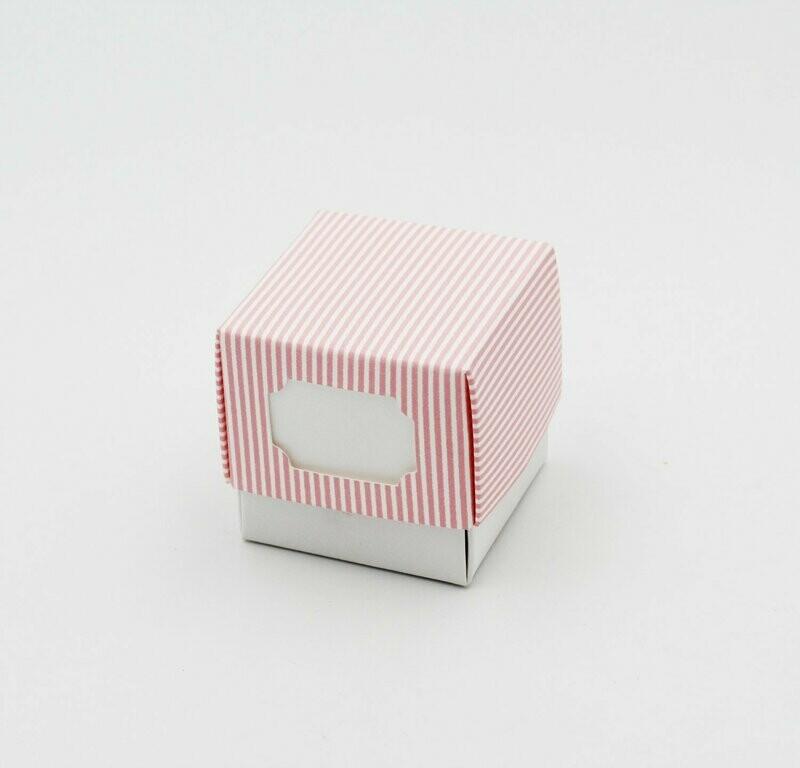 Scatolo fleur millerighe rosa Pz. 10