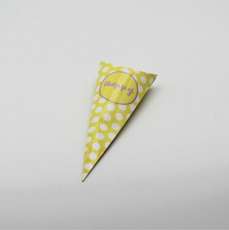 Cono happy giallo  Pz.10