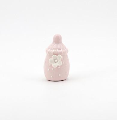 Bomboniera in ceramica biberon rosa Pz. 12