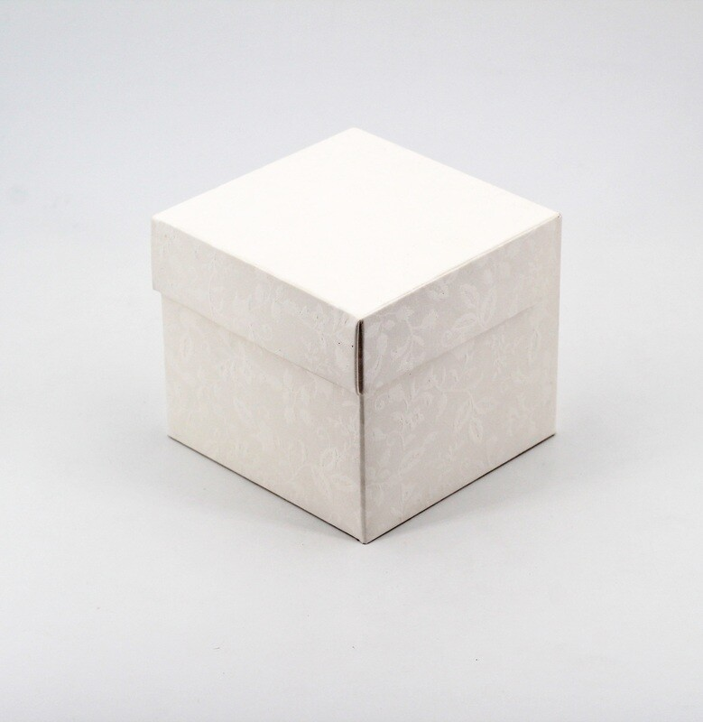 Scatola pieghevole con coperchio harmony bianco Pz.10