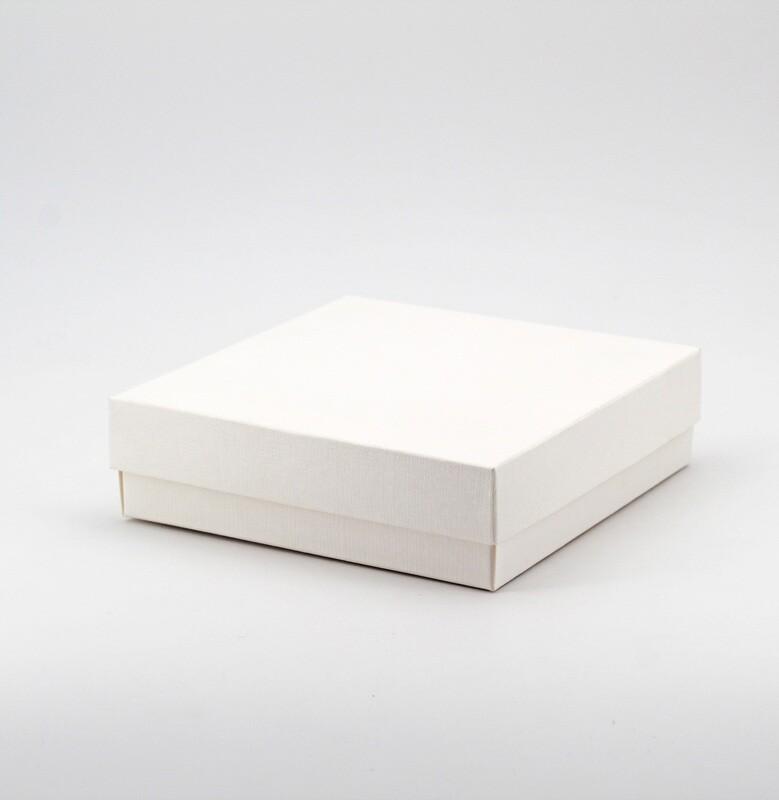 Scatola seta bianco fondo e coperchio Pz.10