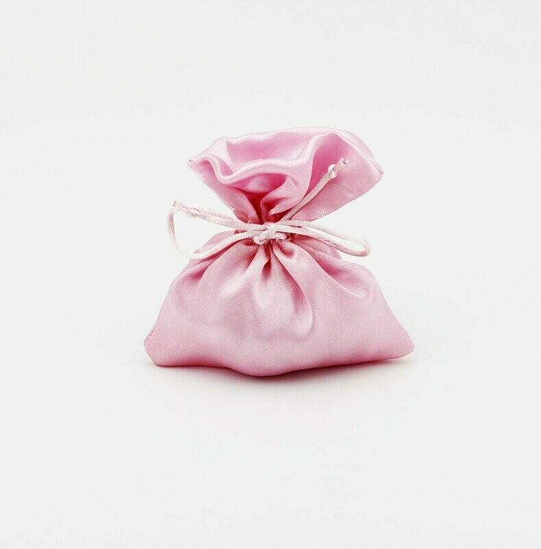 Sacchetto raso rosa Pz. 10