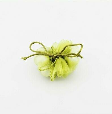 Tubolare porta confetti con tirante verde  Pz.10