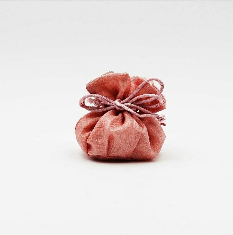 Sacchetto Pouff lino rosa Pz.10