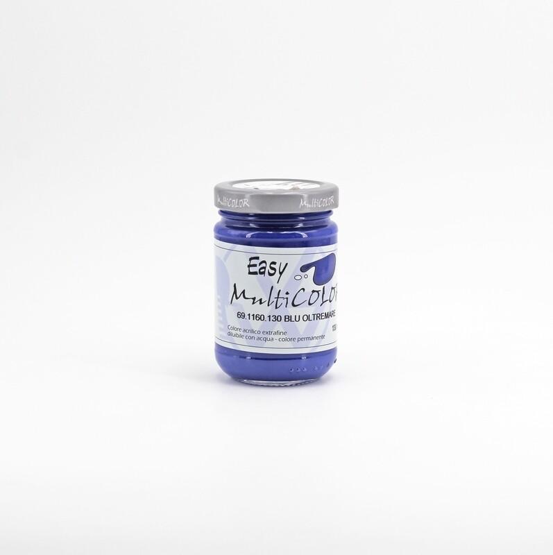 Colore acrilico blu oltremare extrafine permanente 130 ml. Pz. 1