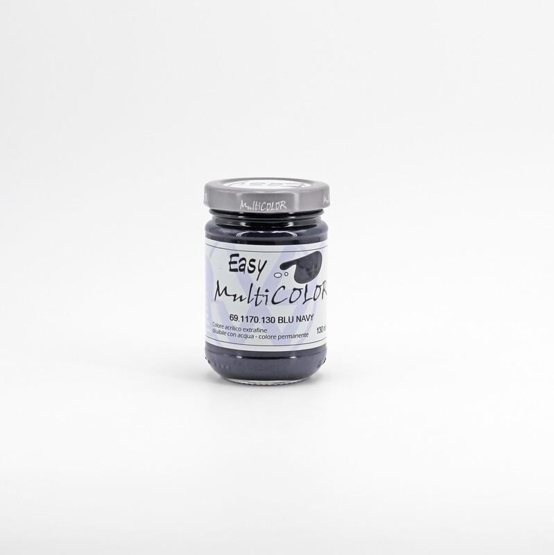 Colore acrilico blu navy extrafine permanente 130 ml. Pz. 1