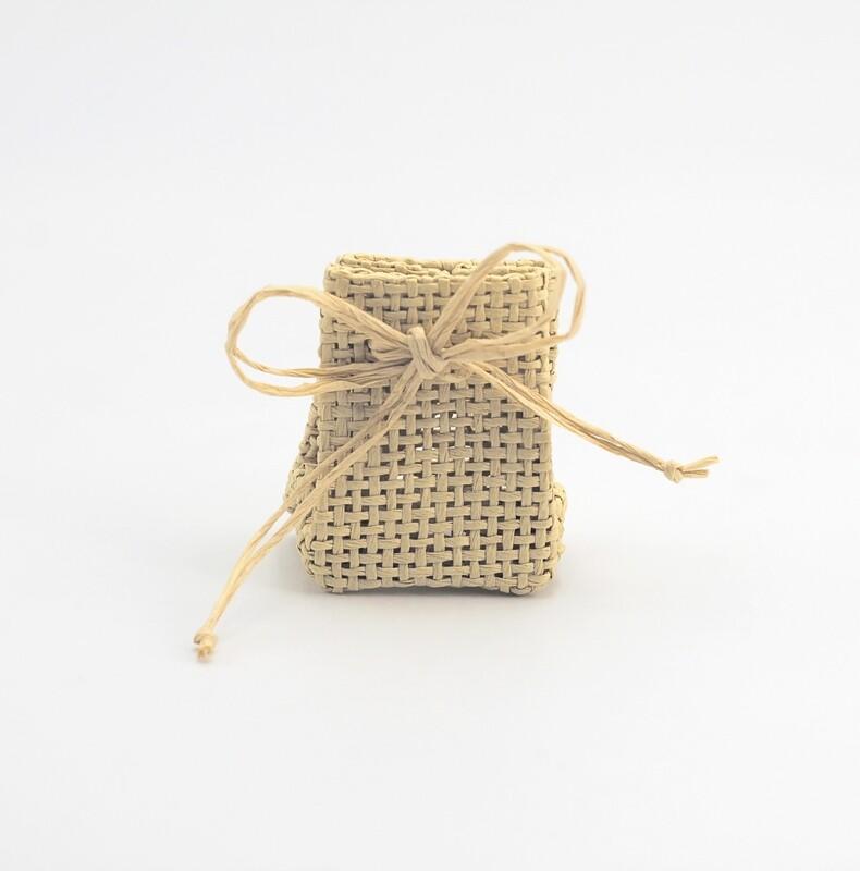 Zainetto portaconfetti piccolo sabbia Pz. 37