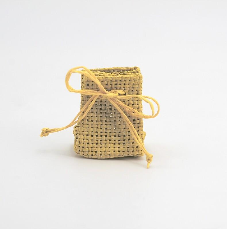Zainetto portaconfetti piccolo giallo senape Pz. 30