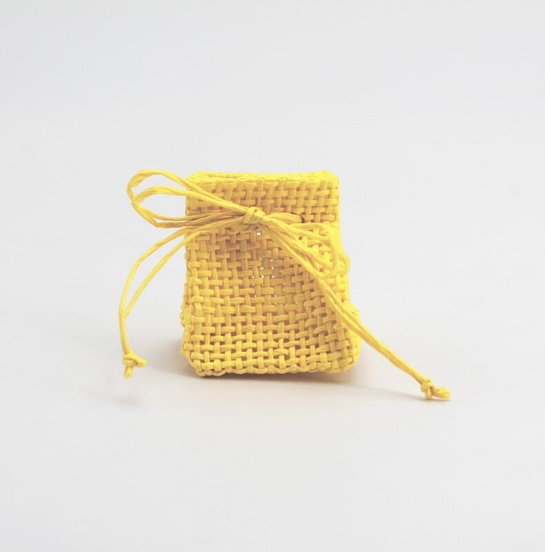 Zainetto portaconfetti piccolo giallo  Pz. 24