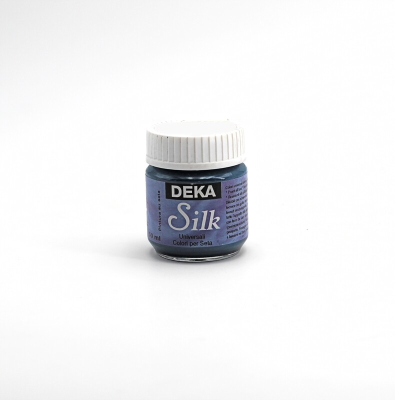 Colore blu petrolio liquido per dipingere la seta 50 ml. Pz.1