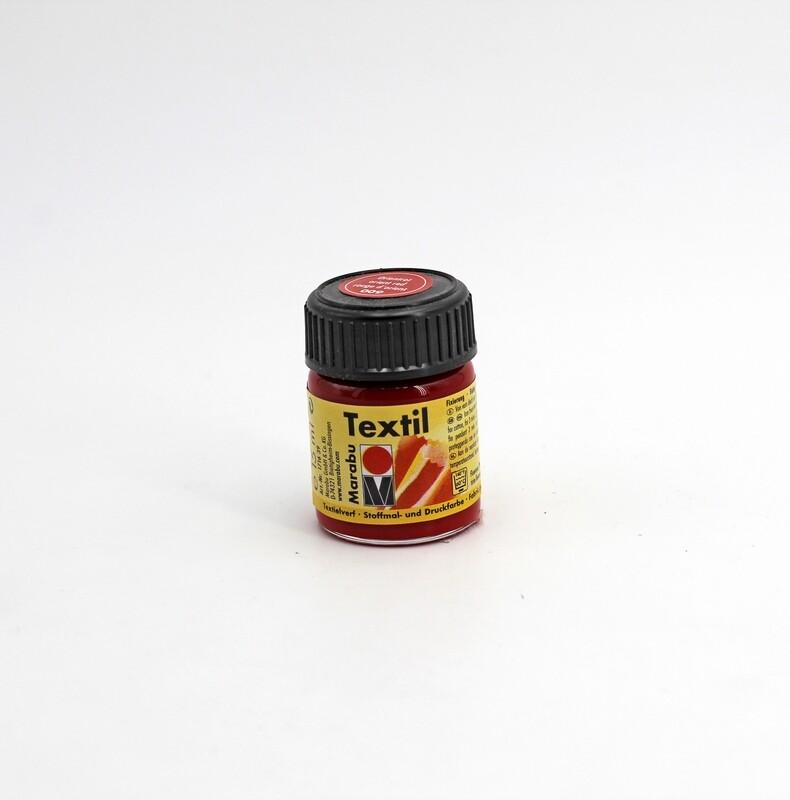 Colore per tessuto universale rosso d'oriente a base d'acqua 15 ml. Pz.1