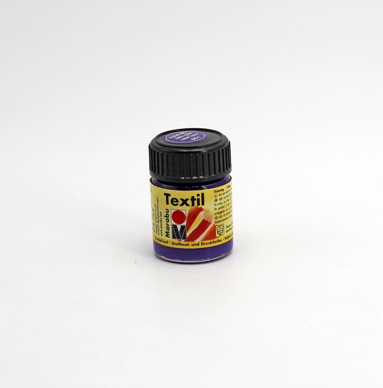 Colore per tessuto universale viola scuro a base d'acqua 15 ml. Pz.1