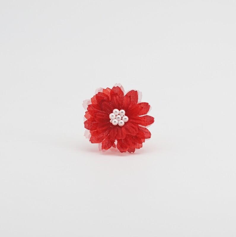 Applicazione fiore ninfea rosso piccolo Pz. 12