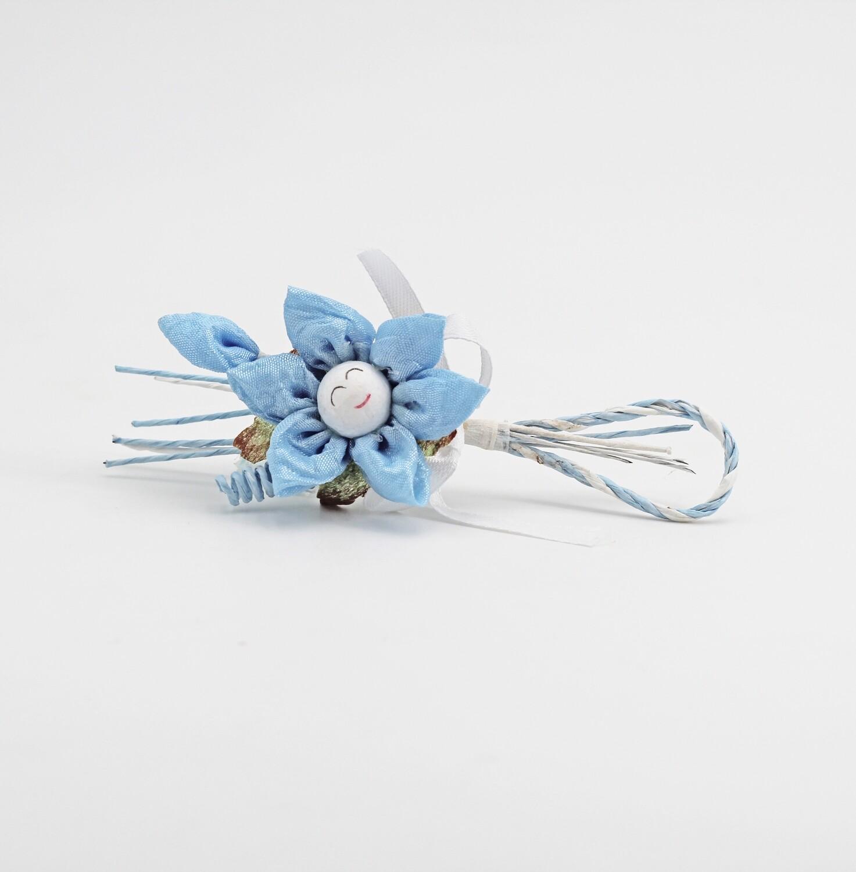 Applicazione fiore girasole celeste Pz. 12