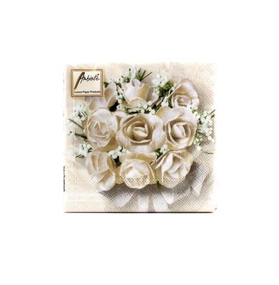 Tovaglioli per eventi bouquet rose Pz.20