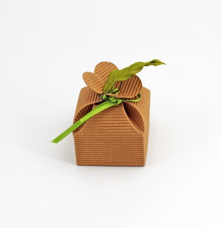 Scatolo fiore onda avana confezioni da pz. 10