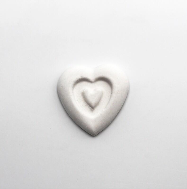 Gessetto doppio cuore bianco Pz. 10