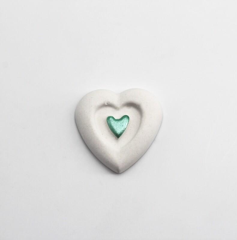 Gessetto doppio cuore verde Pz. 10