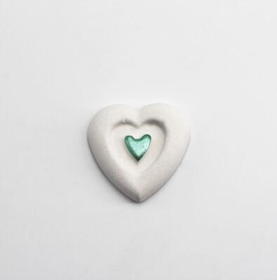 Gessetto doppio cuore verde Pz. 12