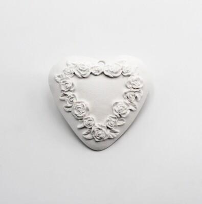 Gessetto cuore con rose Pz.12